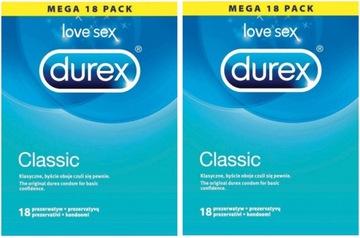 ПРЕЗЕРВАТИВЫ DUREX CLASSIC 36 шт. Классические BOX доставка товаров из Польши и Allegro на русском