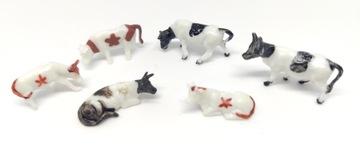 Животные, коровы на макет H0 1:87 10 шт доставка товаров из Польши и Allegro на русском
