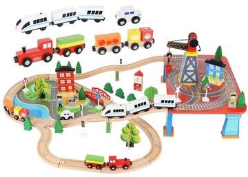 Деревянная Канатная Рельсы Поезд на Батарейках 330 см XXL доставка товаров из Польши и Allegro на русском
