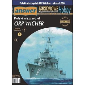Ответ 1/09 Польский эсминец ORP Вихрь 1:200 доставка товаров из Польши и Allegro на русском