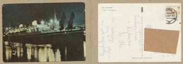ОТКРЫТКА - Корабль M/S BATORY 1967 года. доставка товаров из Польши и Allegro на русском
