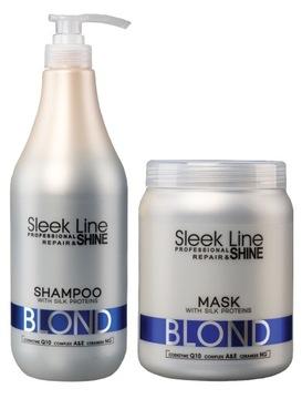 STAPIZ Sleek Line Blond Набор XL Шампунь Маска 2L доставка товаров из Польши и Allegro на русском