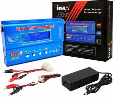 Зарядное устройство IMAX B6 80W 6A LiPo NiMH + Адаптер питания 60W доставка товаров из Польши и Allegro на русском