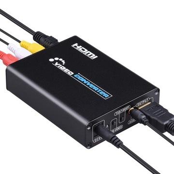 Конвертер AV / S-Video на HDMI + 3,5 мм аудио джек доставка товаров из Польши и Allegro на русском