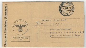 Германия 1942 г. Письмо Еленя Гура Ковары Крзачина доставка товаров из Польши и Allegro на русском