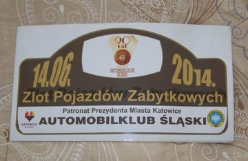 Памятная наклейка Митинг исторических машин  доставка товаров из Польши и Allegro на русском