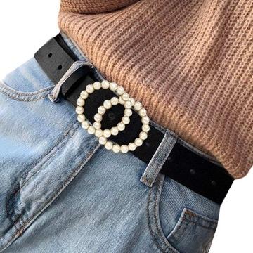 Ремень Z24 для брюк, черное золото, пряжка, колеса, колеса доставка товаров из Польши и Allegro на русском
