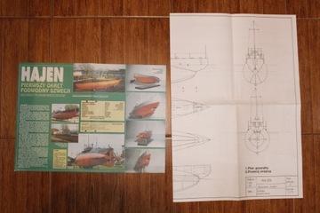 Okręt podwodny Hajen Plany modelarskie Stan BDB доставка товаров из Польши и Allegro на русском