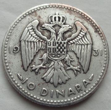 ЮГОСЛАВИЯ - 10 ДИНАРА 1931 - ПАРИЖ - Александр И доставка товаров из Польши и Allegro на русском