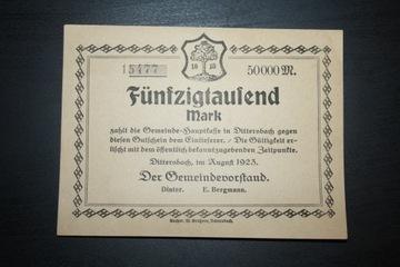 DITTERSBACH WAŁBRZYCH 1923 50 000 MARK STAN доставка товаров из Польши и Allegro на русском