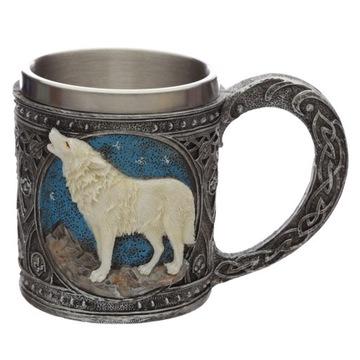 (Декоративный Пинта Белый Волк ведьмак, игра престолов) доставка товаров из Польши и Allegro на русском