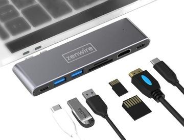 АДАПТЕР 7w1 HUB USB-C, HDMI 4K SD MACBOOK PRO AIR доставка товаров из Польши и Allegro на русском