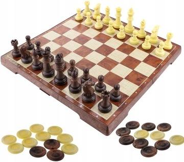 Большие Шахматы-Шашки Магнитные Магнит Пешки доставка товаров из Польши и Allegro на русском