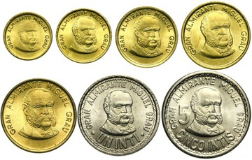 Комплект - ПЕРУ НАБОР 7 монет 1985-1988 - UNC доставка товаров из Польши и Allegro на русском