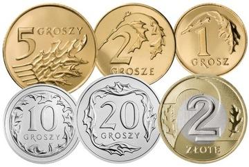 Комплект циркуляционных монет 2007 года. UNC 6 шт доставка товаров из Польши и Allegro на русском