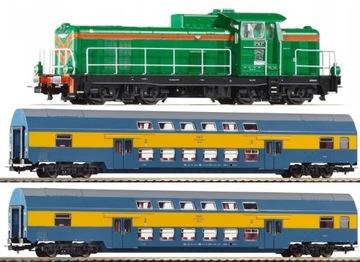 Пассажирский поезд РЖД SM42 Рельсы с Насыпью PIKO 97934 доставка товаров из Польши и Allegro на русском