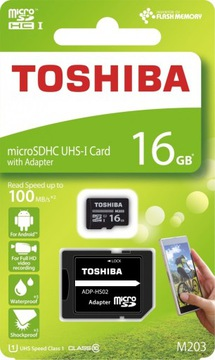 TOSHIBA microSD 16GB M203 UHS-I U1 adapter доставка товаров из Польши и Allegro на русском