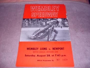 1971 Wembley - Newport - заполнен. доставка товаров из Польши и Allegro на русском