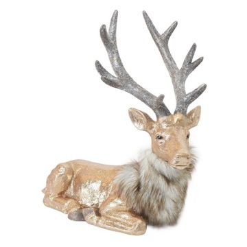 Золотой олень Lioso, лежащий с мехом  доставка товаров из Польши и Allegro на русском