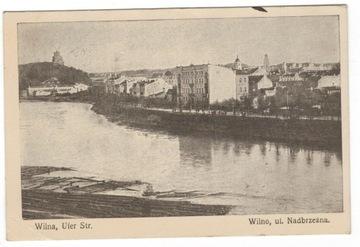 Pocztówka 1916 Wilno ulica Nadbrzeżna доставка товаров из Польши и Allegro на русском