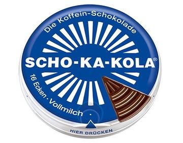 Шоколад Що-Ка-Колеса молочное с кофеином доставка товаров из Польши и Allegro на русском