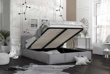 Кровать с обивкой каркас матрас 160х200 AMBER доставка товаров из Польши и Allegro на русском