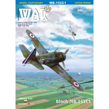 WAK 8/20 - Myśliwiec Bloch MB.152C1 1:33 доставка товаров из Польши и Allegro на русском