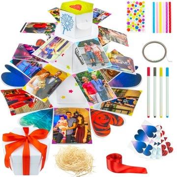 АЛЬБОМ CARD 3D - Белый box DIY, сувенир, открытка доставка товаров из Польши и Allegro на русском