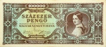 Венгрия - Республика - БАНКНОТЫ - 100000 Pengo 1945 доставка товаров из Польши и Allegro на русском