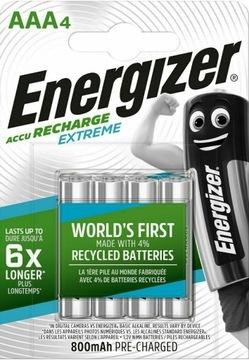 4x Аккумуляторы ENERGIZER Extreme AAA R03 800mAh доставка товаров из Польши и Allegro на русском