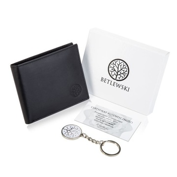 Маленький кошелек мужской кожаный BETLEWSKI тонкий RFID доставка товаров из Польши и Allegro на русском