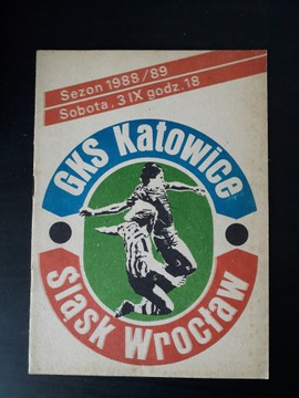 GKS KATOWICE - ŚLĄSK WROCŁAW 1988r доставка товаров из Польши и Allegro на русском