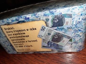 НБП Брикет Банкноты 50 злотых Кубик Подарок 55tysięc доставка товаров из Польши и Allegro на русском