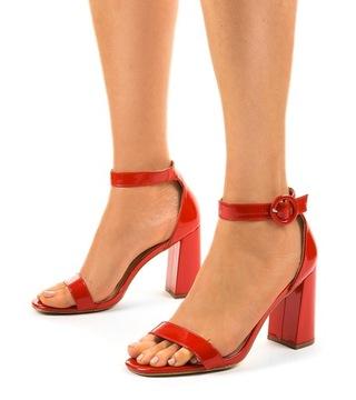 Красные сандалии słupkek лак туфли-лодочки 0354-19 38 доставка товаров из Польши и Allegro на русском