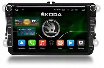 RADIO NAVI ANDORID 8 GPS SKODA OCTAVIA SUPERB PL доставка товаров из Польши и Allegro на русском