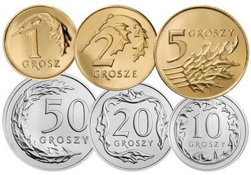 Комплект циркуляционных монет 2011 года. UNC 6 шт доставка товаров из Польши и Allegro на русском