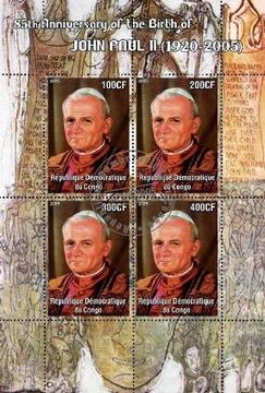 P0555 Папа римский Иоанн Павел II Конго 85-летие Родит доставка товаров из Польши и Allegro на русском