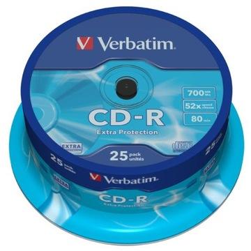 ДИСК VERBATIM CD-R 700MB, СКОРОСТЬ 52X, CAKE 25 доставка товаров из Польши и Allegro на русском