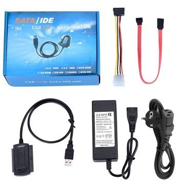 АДАПТЕР ДИСК ATA IDE 2.5 3.5 SATA USB 2.5 A питания доставка товаров из Польши и Allegro на русском
