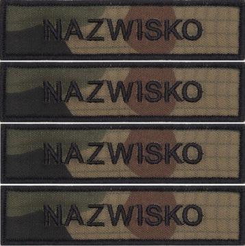 IMIENNIK nazwisko WOJSKOWE na mundur US-21 x 4 szt доставка товаров из Польши и Allegro на русском