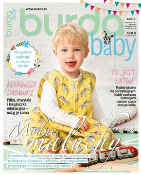 Burda moda baby dzieci 2/2019 szycie wykroje nowe доставка товаров из Польши и Allegro на русском