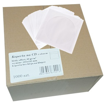 Конверт для CD с окошком упаковка 1000 штук доставка товаров из Польши и Allegro на русском