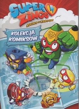 KOMIKS SUPER ZINGS nr 1 + peleryna+ puszka + magne доставка товаров из Польши и Allegro на русском