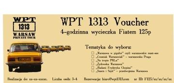 Voucher na prezent Wycieczka Fiat 125p Warszawa доставка товаров из Польши и Allegro на русском