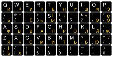 Наклейки на клавиатуру РУССКИЙ УКРАИНСКИЙ ЦИРИЛЛ доставка товаров из Польши и Allegro на русском