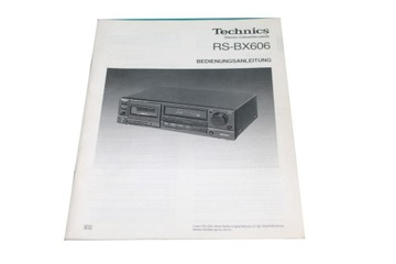 Instrukcja - Technics RS-BX606 доставка товаров из Польши и Allegro на русском