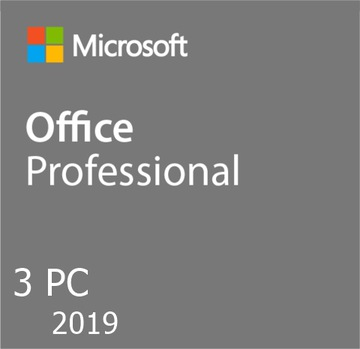 Microsoft OFFICE 2019 PRO   RU   3ШТ для Windows доставка товаров из Польши и Allegro на русском
