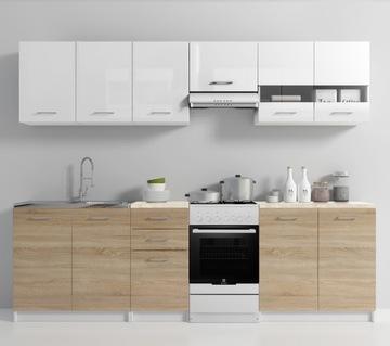 Кухонная мебель комплект со столешницей Кухня дуб лак доставка товаров из Польши и Allegro на русском