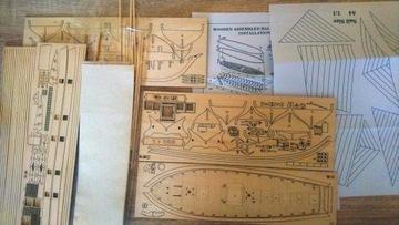 Деревянная модель парусника в масштабе 1:100 доставка товаров из Польши и Allegro на русском