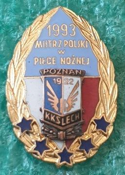 KKS LECH POZNAŃ MISTRZ POLSKI 1993 BIAŁO-CZERWONA доставка товаров из Польши и Allegro на русском